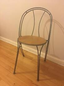 IKEA set of 4 metal/wood kitchen/dining chairs