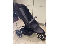 Phil&Teds Sport Double buggy black & grey