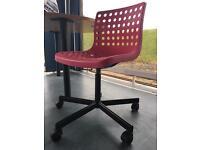 Ikea computer chair (pink)