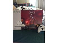Xbox one s 1tb with halo wars 2 and Tekken tag 2