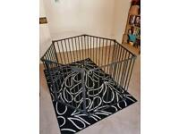°•☆ hexagonal large baby puppy play pen metal heavy duty Mothercare ☆•°