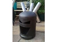 Bespoke gas bottle log burner