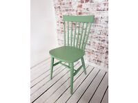 Kitchen Dining Spindle Back Painted Chairs Any Farrow & Ball Rustic Mid-Century Modern Living