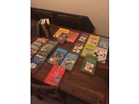 20+ children's books (wimpy kid, David Williams, plus others)