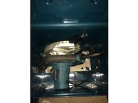 Makita 240V circular saw, used once in good condition with original carry case