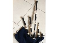 1950 Silver and ivory Henderson bagpipes