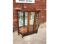 Wooden/glass china cabinet