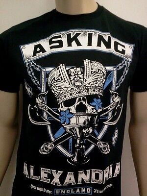Asking Alexandria  Mens T Shirt Free Shipping Size Sm Med Lg Xl 2X New Band Tee