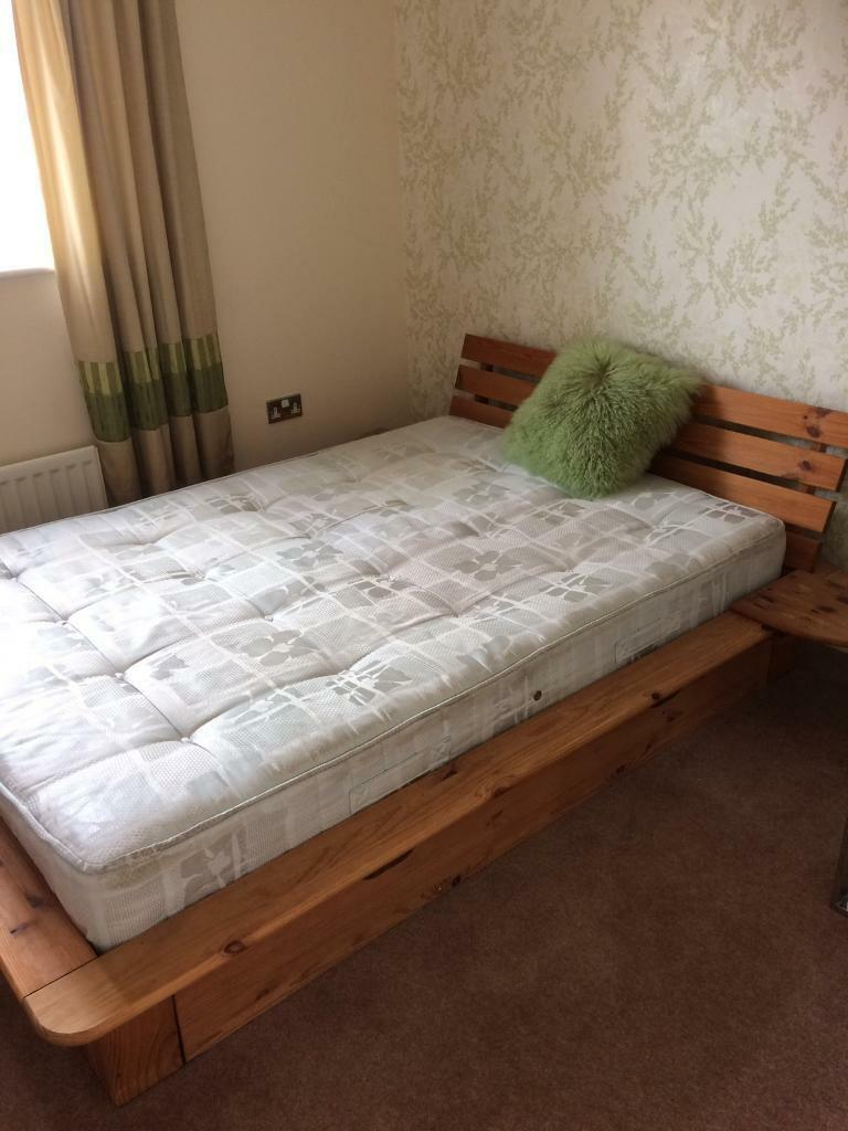 Double bed and mattessin Bathgate, West LothianGumtree - Wooden double bed and mattress (optional) with 2 storage drawers underneath. Used but good condition. Will be dismantled collection only