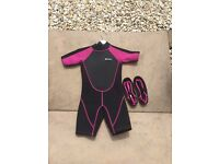 Swim suit/shoes and body board