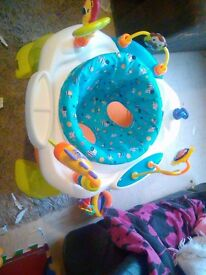 Lamaze tummy time and a bounce bright start activty centre