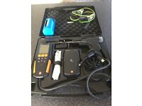 Flue gas analysis machine with extras