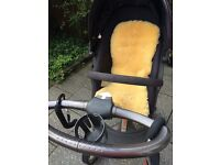 Stokke Xplory v3 Navy complete set with carrycot, footmuff and sheepskin