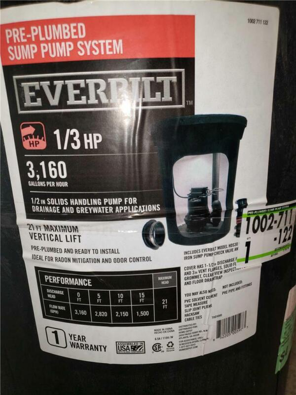 Everbilt Pre-Plumbed Sump Pump System