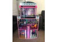 4ft light up dolls house with furniture immaculate condition and lots of other toys included