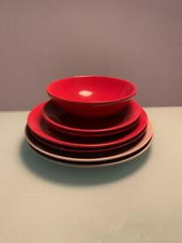 Full set of plates and bowls