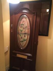 Solid mahogany front door