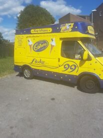 Ford transit soft ice cream van mr whippy stocked ready to go sale due to upgrade