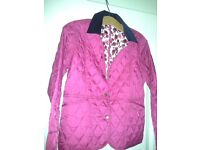 Girls Pink Barbour Jacket, 14/15 -never worn