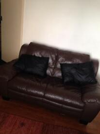 2 peice genuine leather sofa for sale
