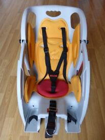 CoPilot Limo Rear Bicycle Seat for Children with recline and free-standing baby chair features.