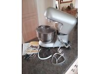 Andrew James 5.2ltr Food Mixer, complete with all mixing attachments.
