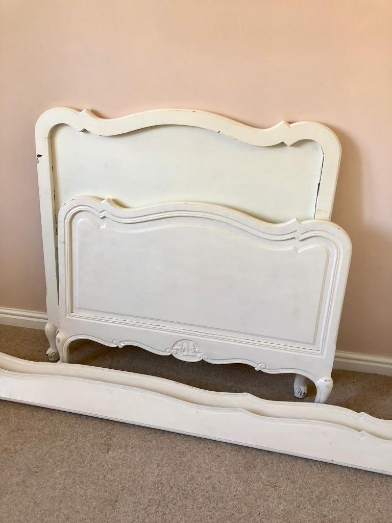 Shabby Chic French Style White Single Bed In Waterlooville