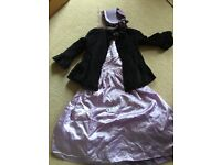 Girls Victorian Fancy Dress Costume complete with Bonnet