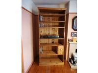 Shelf unit handmade rustic antique pine finish