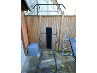 Home Gym Equipment - Pull Up / Chin up / Dip Station with Padded Bench
