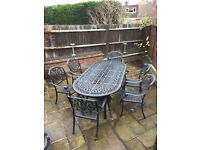Hartmann Outdoor Oval Table and Six Chairs