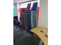 Ex hire stackable chairs