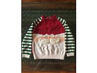 John lewis Father Christmas boy 5 year old jumper