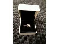 Pandora 3 sided 4 petal charm wirh diamante