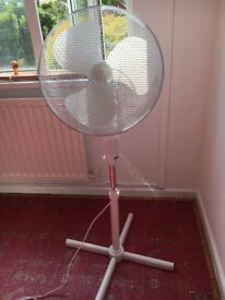 "Oscillating 16"" white 3 speed pedestal fan for sale"