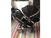 iCandy Peach double buggy and accessories