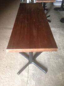 Large Dark Wood Pub/Bistro/Cafe Table