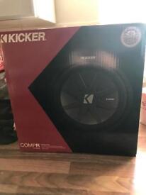 "Kicker compr sub brand new 12"""
