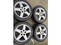 Audi Alloy Wheels with Dunlop Winter Tyres