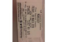 Morrissey tickets x 2 fri 9th march Alexandra palace