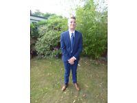 size 30S bright blue 3 piec suit , ventura slaters .