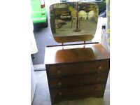 Charming retro vintage dressing table, drawers with mirror