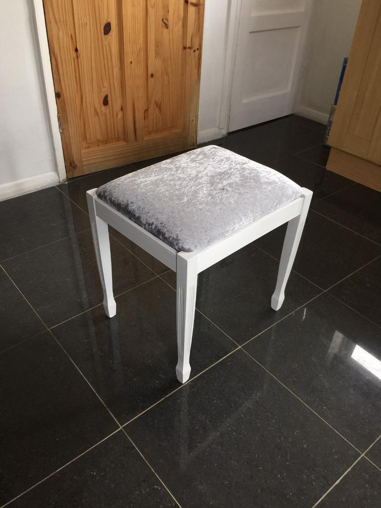 Silver Crushed Velvet Dressing Table Bedroom Stool Chair In Diss Norfolk Gumtree