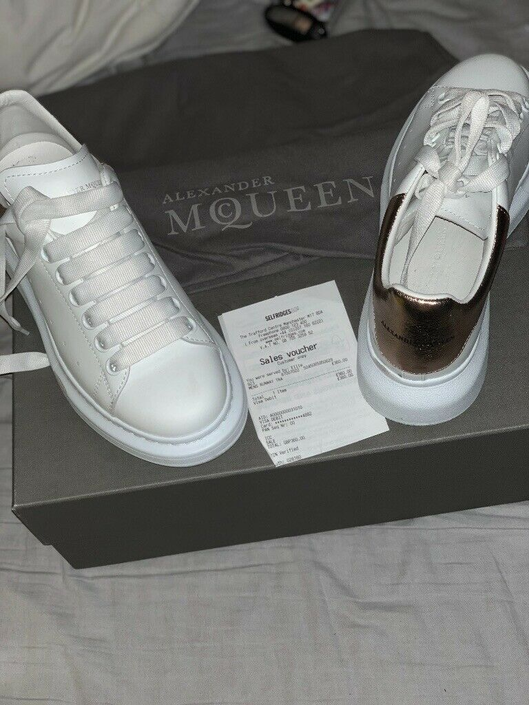fa6e32134fad ALEXANDER MCQUEEN Ladies runway leather platform trainers ...