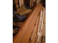 Approx 25m2 used pine wood flooring