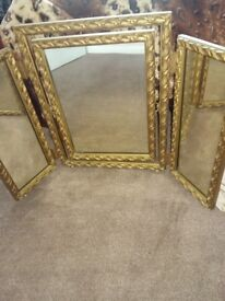 Gold dressing table mirrors antique