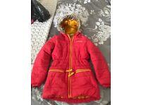 Girls red Regatta coat 7-8 years.