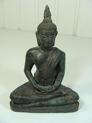 URALTE BUDDHA FIGUR BRONZE STATUE ASIATIKA SKUPLTUR RARE 20.JHD