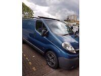 Blue Vauxhall vivaro van (LWB)