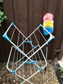 Clothes airer outside and 3 for radiator